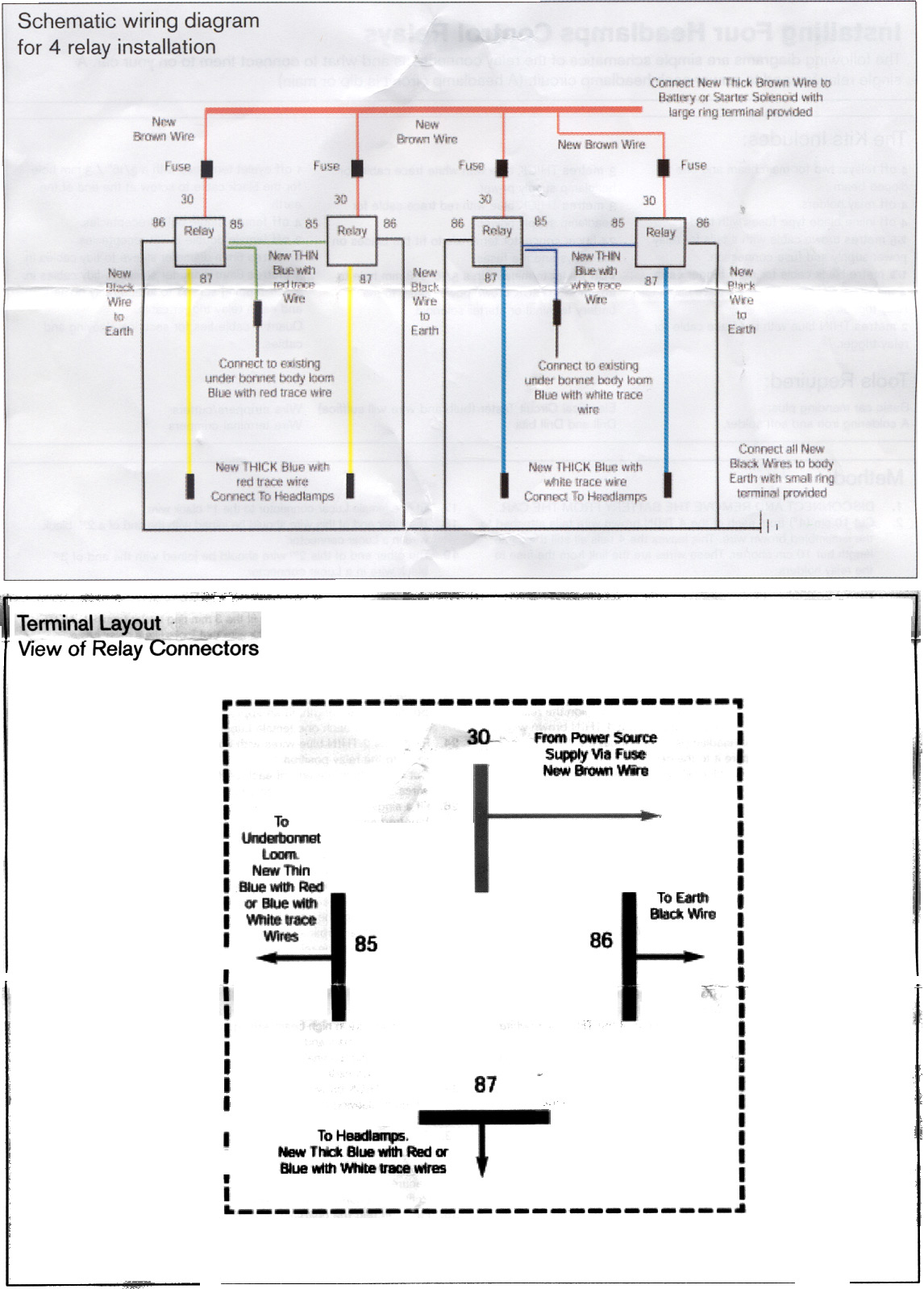 Triumph Tr 6 Wiring Diagram And Schematics Images Of Tr6 Wire Upgrading Headlights Avery Motorsports Figure 8