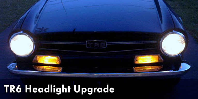 Upgrading Triumph TR6 Headlights Avery Motorsports